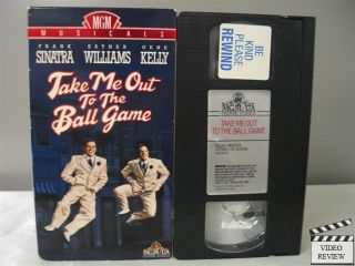 Take Me Out To The Ball Game VHS Frank Sinatra, Esther Williams, Gene