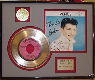 Frankie Avalon 24KT Gold Record Free Shipping Oldies