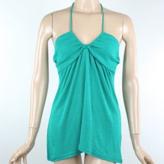 Michael Stars halter tank top TUNIC SHIRT one size fits most GREEN