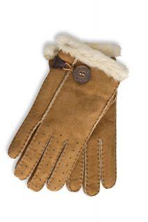 UGG Australia Womens Classic Bailey Gloves in Chestnut