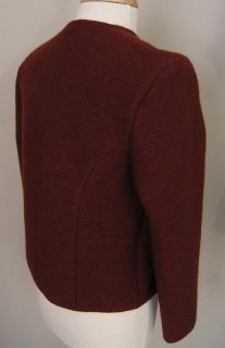 Geiger Boiled Wool Button Jacket Brick Red Euro 48 US 10 PERFECT