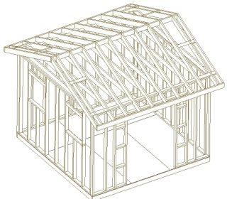 12x12 Custom Gable Roof Backyard Shed Cabin Plans Learn How to Build A