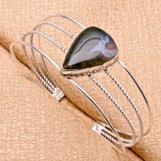 type cuff bracelet stone name moss agate gemstone quantity 1