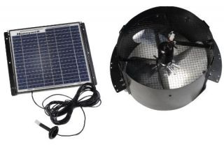 Honeywell 527SHON103BLK 12 Watt Gable Mount Solar Powered Attic Fan
