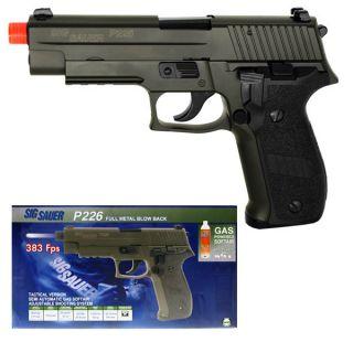 Sig Sauer P226 Green Gas Airsoft Hand Gun Pistol Green