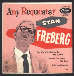Stan Freberg 1954 Capitol EP Picture Cover Any Requests