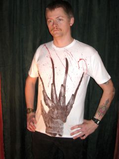 Freddy Krueger Bloody Glove T Shirt Limited Edition