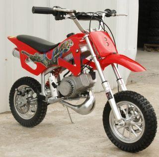 50cc 2 Stroke Gas Motor Mini Bike Dirt Pit Bike Red H DB49A