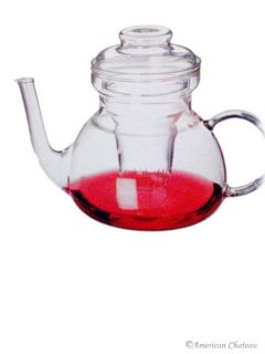 Czech Heat Resistant Pyrex Glass Teapot Tea Pot Kettle