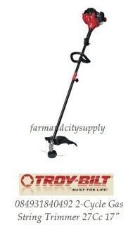 Troy Bilt 084931840492 2 Cycle Gas String Trimmer 27cc 17 Authorized