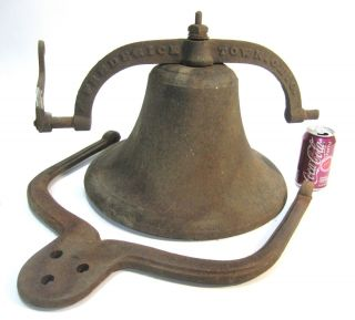 Cast Iron School Bell Church Old Farm 2 Fredericktown Ohio Yoke