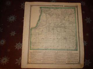 1875 Phenix Township Geneseo Henry County Illinois Map