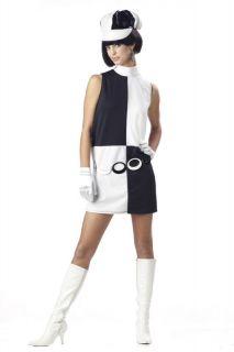 Women 60s 70s Retro Go Go Girl Geo Halloween Costume