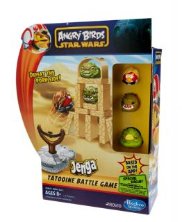 Star Wars Angry Birds Jenga Tatooine Battle Game Hasbro