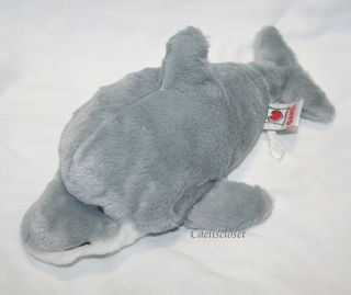 Ganz Webkinz BOTTLENOSE DOLPHIN Plush Stuffed Animal HM220 CUTE