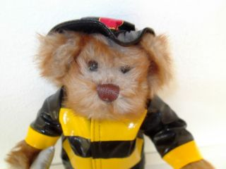 GANZ HERITAGE COLLECTION TEDDY BEAR FIREMAN #9081   ADORABLE