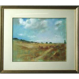 Paul Gance Harvest Landscape Impressionist Oil Painting