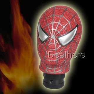 Universal Gear stick Shift Shifter Lever Knob   Carved Spider man