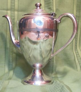 Simeon L George H Rogers Silverplate Coffee Tea Pot REDUCED Company Co