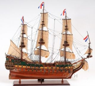 Magnificent Dutch Warship Friesland Handmade Wooden Sailboat Model 37