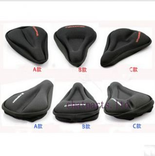 New Bike Bicycle Soft Gel Seat Pad Saddle Cushion Cover A B C Shape to