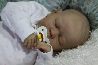 Reborn Gena Fagan Baby Girl Lifelike Doll
