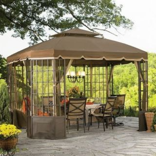 GARDEN OASIS Replacement Canopy for Bay Window Gazebo 12 X 10