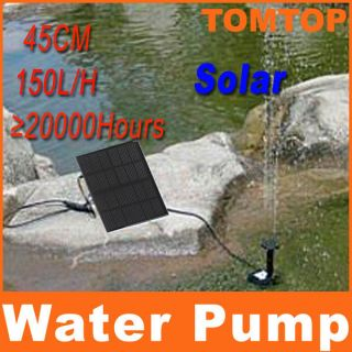 Power Panel Kit Fountain Pool Garden Pond Submersible Watering