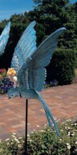 Bluebird Thumbelina Fairy Garden Stake Sculpture Bird