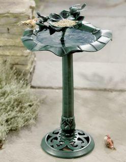 Birdbath Bird Bath and Feeder with Birds Yard Garden Art Decoration