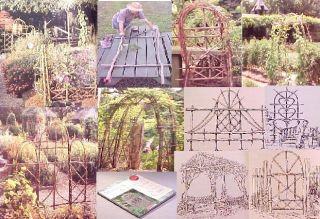 Wood Trellis Arbor Gate Fence Building Home Green Work Rustic Garden