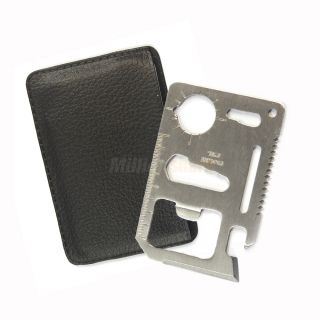 Multi Credit Card Survival Knife Camping Emergency Pocket Tool