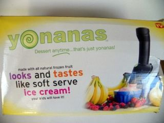 YONANAS FROZEN TREAT FRUIT ICE CREAM MAKER BANANA DESSERT MAKER