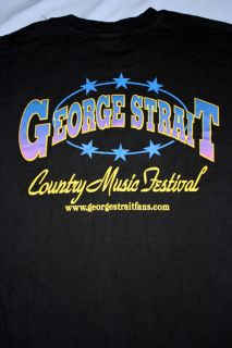 George Strait Country Music Festival Concert Tour Black T Shirt Adult