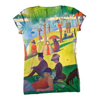 ArtsyClothingCo  Womens Top  Ladies T Shirt  Georges Seurat 002