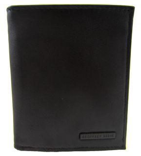 Geoffrey Beene Mead Black Leather Multicard Holder Bifold Travel