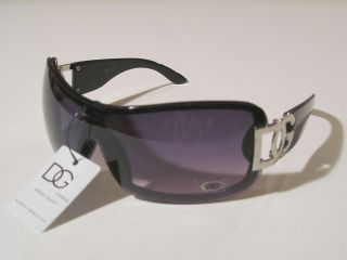 Eyewear Full Purple Lens Black Frame Womens Plastic Fashion Sunglasses