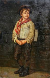 John George Brown News Boy