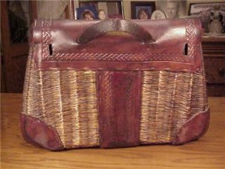 George Lawrence Model 4A Leathered Split Willow Basket Creel