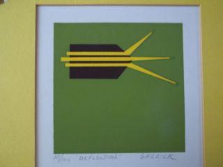 Lithograph Artist Garrick 10 of 100 Title Deflection