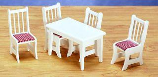 Dollhouse Miniature Kitchen Furniture Table Chairs Set