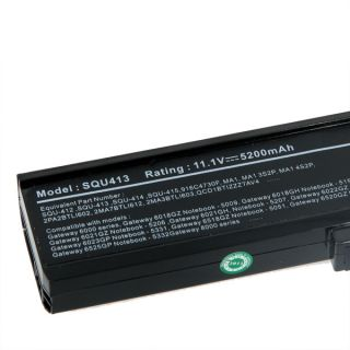 New 6 Cell 5200mah Laptop Battery for Gateway MT3709 PA6A 6MSBG 6MSB