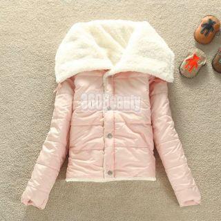 B5UT New Lammy Korea Women Button Long Sleeve Winter Warm Coat Outwear