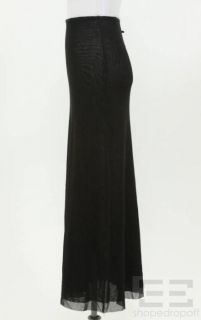 Jean Paul Gaultier Black Mesh A Line Maxi Skirt Size Small