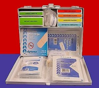 New Free Metal LED Flash Light First Aid Kit Metal Box 160 Pieces