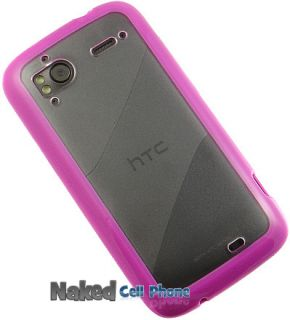 New Pink Clear AquaFlex TPU Case Hard Soft Skin for Tmobile HTC
