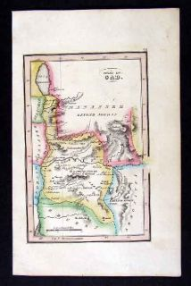 1836 Bible Map Israel Tribe of Gad Holy Land