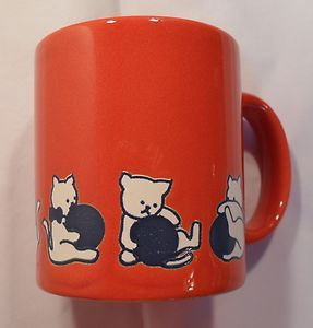 Red Cat Coffee Mug Cup Waechtersbach Germany Brilliant Color