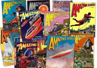 Pulps Fiction Amazing Stories 1 Gernsback Ziff Davis Mags Books