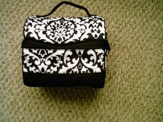 Pottery Barn Teen Gear Up Retro Classic Lunch Bag Black Damask No Mono